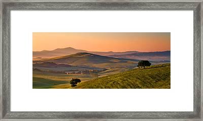 Tuscan Morning Framed Print by Daniel Sands