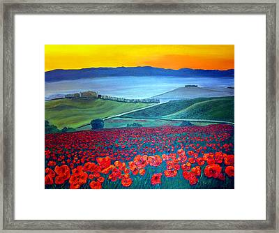 Tuscan Tranquility Framed Print