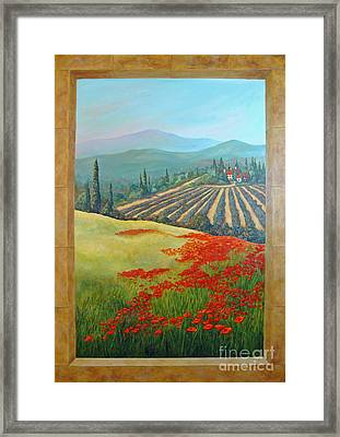 Tuscan Vista Framed Print by Phyllis Howard