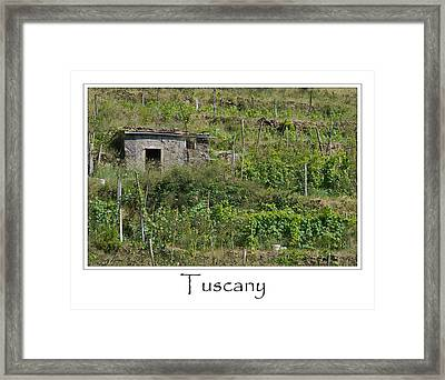 Tuscany Italy Framed Print by Brandon Bourdages