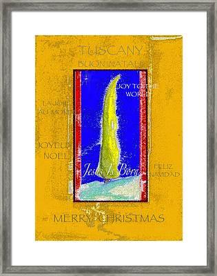 Tuscany Joy To The World Framed Print by Glenna McRae