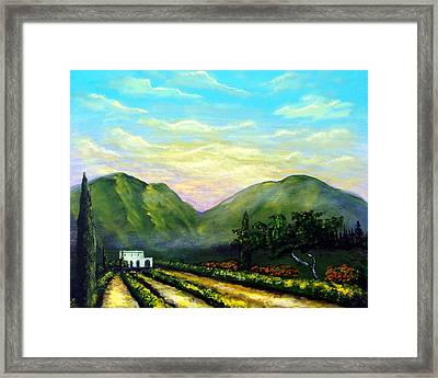 Framed Print featuring the painting Tuscany Light by Larry Cirigliano