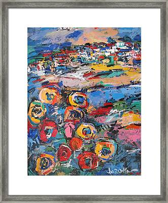 Tuscany With Flowers 02 Framed Print by Len Yurovsky