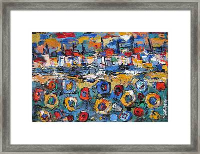 Tuscany With Sunflowers Framed Print by Len Yurovsky