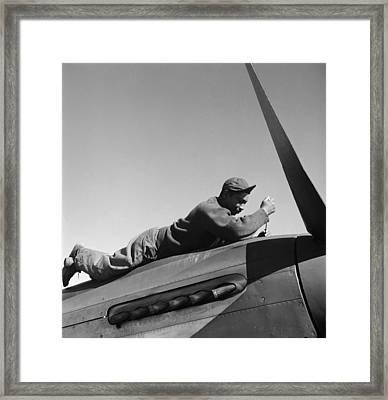 Tuskegee Airman, 1945 Framed Print by Granger