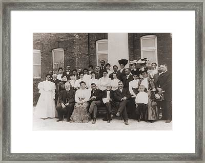 Tuskegee Institute Faculty Framed Print by Everett
