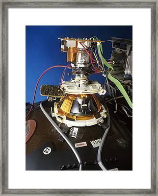 Tv Cathode Ray Tube Framed Print by Andrew Lambert Photography