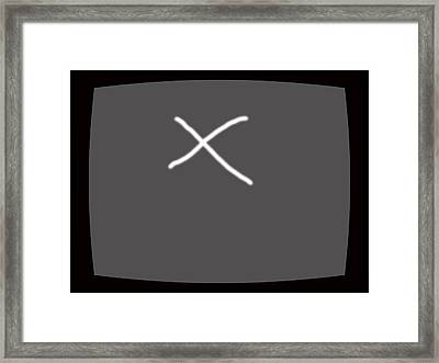 Tv Or Not Tv.... Framed Print by Lenore Senior