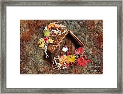 Tweet Little Bird House Framed Print by Andee Design