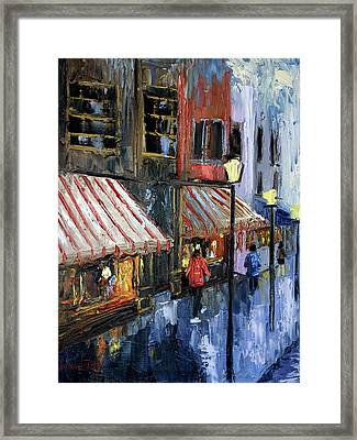 Twelve Street And Rine Framed Print by Anthony Falbo