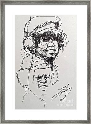 Twice Michael Framed Print