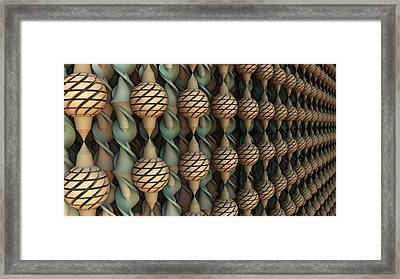 Twice Twisted Framed Print
