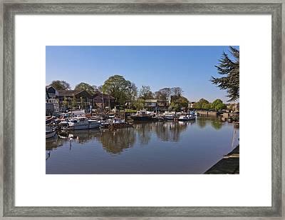 Framed Print featuring the photograph Twickenham Marina by Maj Seda