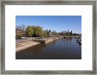 Framed Print featuring the photograph Twickenham On Thames by Maj Seda
