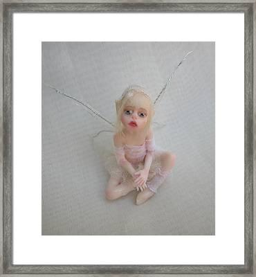 Twiggy Mae Fairy Framed Print by Deborah Gouldthorpe