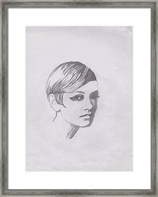 Twiggy Framed Print by Marie Hough