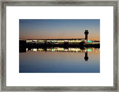 Twilight At Anchorage International Airport Framed Print