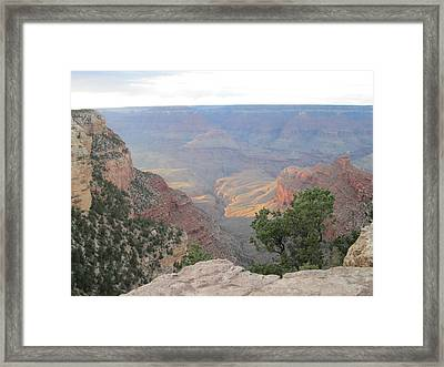 Twilight At Grand Canyon Framed Print by Pasha Sourbeer