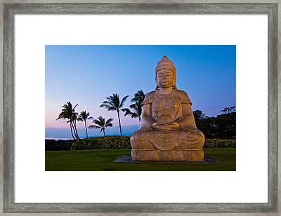 Twilight Buddha Framed Print