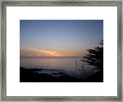 Twilight Coastline Framed Print