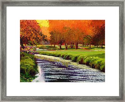 Twilight Golf II Framed Print