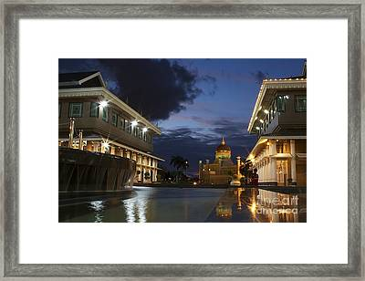 Framed Print featuring the pyrography Twilight In Brunei  by Gary Bridger