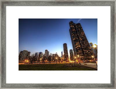 Twilight In Chicago Framed Print