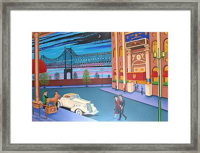 Twilight In New York Framed Print by Tracy Dennison