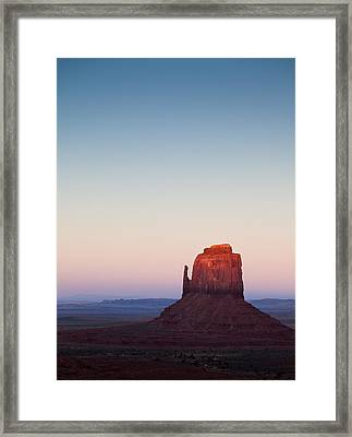 Twilight In The Valley Framed Print by Dave Bowman