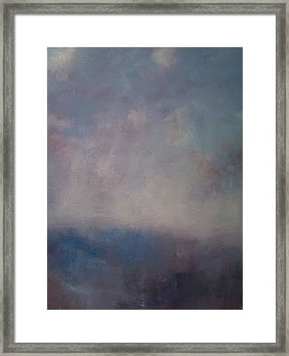 Twilight Mist Over The Arreton Valley Framed Print by Alan Daysh