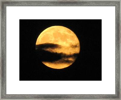 Framed Print featuring the photograph Twilight Moon by Shawn Hughes