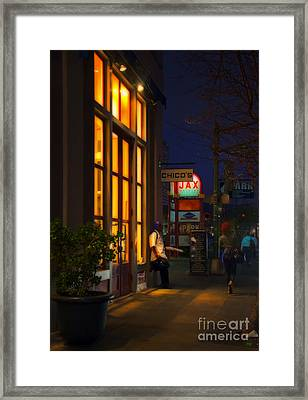 Twilight On Decatur In The French Quarter Framed Print