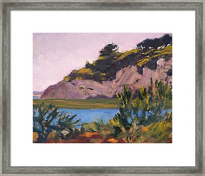 Twilight On The Bay Framed Print