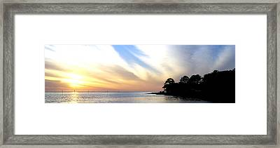 Twilight On The Gulf Framed Print