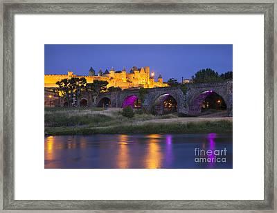 Twilight Over Carcassonne Framed Print