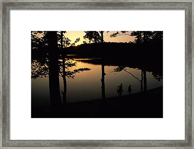 Twilight Over Walden Pond, Made Famous Framed Print