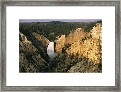 Twilight View Of Lower Yellowstone Framed Print by Michael S. Lewis