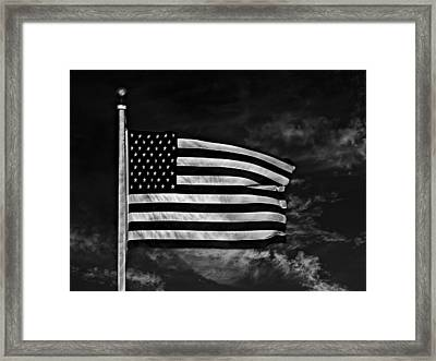 Twilight's Last Gleaming Bw Framed Print by David Dehner