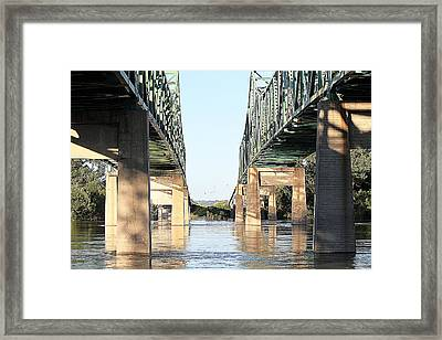 Framed Print featuring the photograph Twin Bridges by Elizabeth Winter