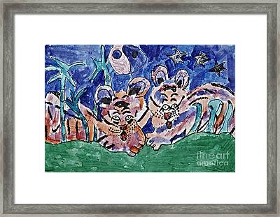 Twin Cubs Framed Print
