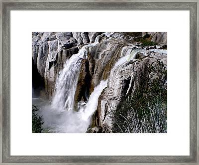 Twin Falls II Framed Print by Mark Caldwell