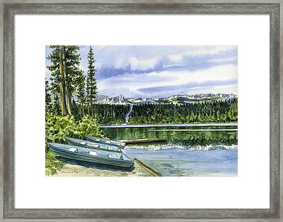 twin lakes Mammoth Framed Print by Mark Jennings