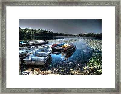 Twin Lakes Pa Framed Print by Guy Harnett