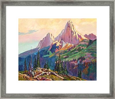 Twin Peaks Evening Light Framed Print