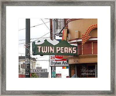 Twin Peaks Gay Bar In San Francisco . 7d7603 Framed Print by Wingsdomain Art and Photography