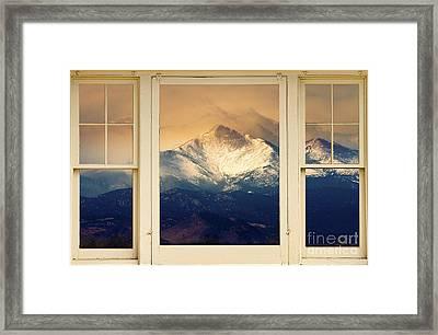 Twin Peaks Meek And Longs Peak Window View Framed Print by James BO  Insogna