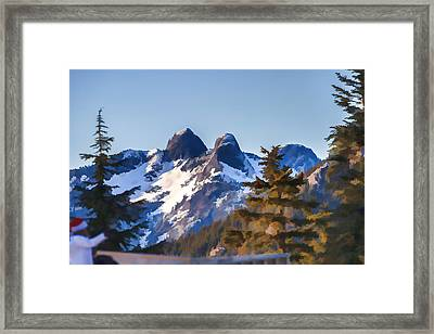 Twin Peaks Painting Framed Print