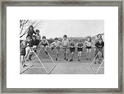Twin School Framed Print
