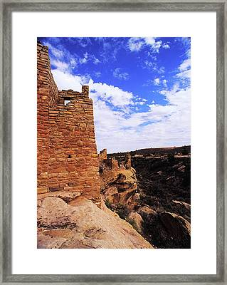 Twin Towers At Cliffs Edge Framed Print by John Brink