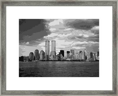 Twin Towers Bw10 Framed Print